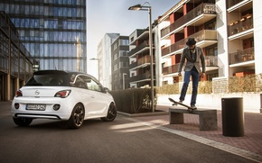 Picture bench, the city, Opel, skate, Opel Adam Slam