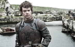 Picture sword, armor, sea, octopus, water, rocks, man, ken, A Song of Ice and Fire, Game ...