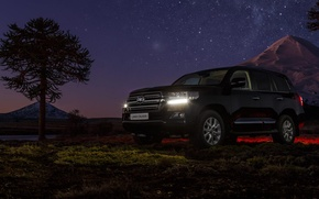 Picture Toyota, Land, 200, Cruiser, the sky.stars