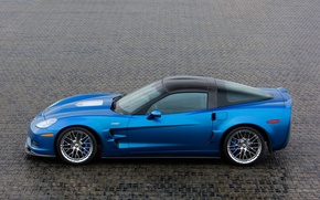 Wallpaper corvette, blue, zr1