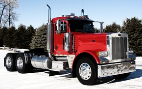 Picture the sky, truck, chrome, the front, truck, tractor, Trak, Peterbilt, Peterbelt, 379