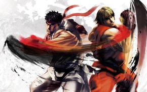 Picture fighter, street, ken, ryu