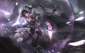 Picture girl, magic, art, fan art, dota 2, Lana, assassin templar