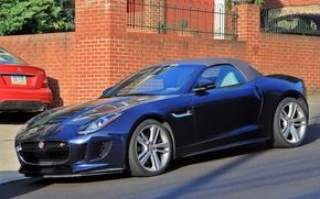 Picture road, street, Roadster, Jaguar, sports car, Jaguar F-Type Roadster