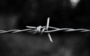 Picture macro, aluminum, barbed wire