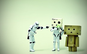 Picture macro, the situation, man, star wars, danbo, figures, LEGO, stormtroopers, box