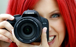 Picture GIRL, FOCUS, The CAMERA, CANON, LENS