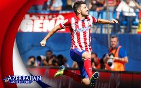 Picture sport, football, Spain, David Villa, player, Azerbaijan, Atletico Madrid, land of fire