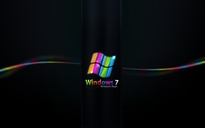 Wallpaper color, seven, Windows, seven