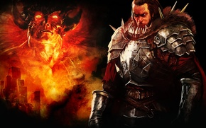 Picture fire, the game, armor, warrior, Bound by Flame, Daman