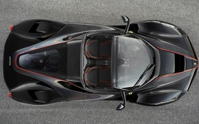Picture Ferrari, Black, the view from the top, new, Spider, LaFerrari