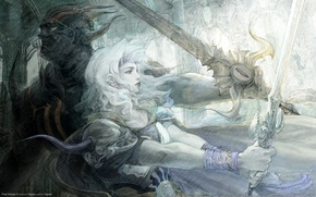 Picture girl, fantasy, weapons, sword, warrior