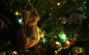 Picture Macro, New Year, Light bulb, New year, Tree, Toys
