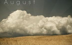 Wallpaper the sky, August, field