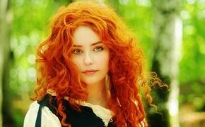 Picture Disney, Pixar, cosplay, cosplay, redhead girl, Disney, Brave heart, Merida, Merida, Red hair