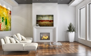 Picture furniture, interior, fireplace, living room