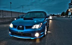 Wallpaper light, the evening, tuning, Subaru