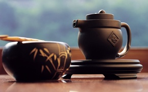 Picture Japan, kettle, stand, tea ceremony