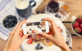Wallpaper phone, cake, camera