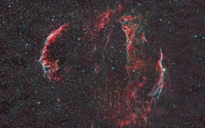 Picture nebula, in the constellation, diffuse, Swan, Veil, cosmos stars