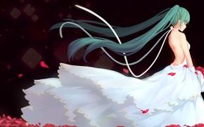 Picture flowers, girls, art, Hatsune Miku, Vocaloid, Vocaloid, Hatsune Miku, satorixxx