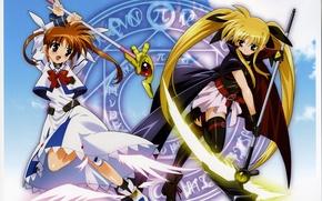 Picture Anime, Testarossa, Nanoha, Nanoha, Fate, Faith, Takamachi, Takamachi, Testarossa