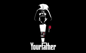 Picture Star Wars, Darth Vader, art, Darth Vader, your father