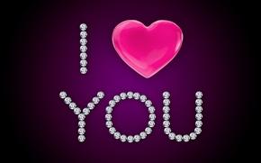 Picture love, i love you, heart, glamour, brilliant, diamonds, design by Marika
