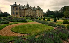 Wallpaper design, house, England, garden, Palace, estate, Lincolnshire, Belton