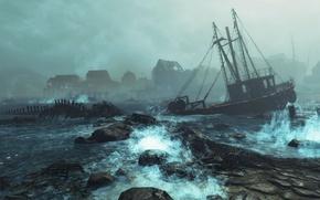 Picture game, DLC, Supplement, Fallout 4, Far Harbor, DLS