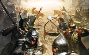 Picture Monsters, People, The Lord of the rings, Goblins, Battle