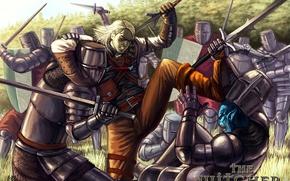 Picture sword, armor, the witcher, shield, the Witcher, knights, armor, Andrzej Sapkowski, Geralt