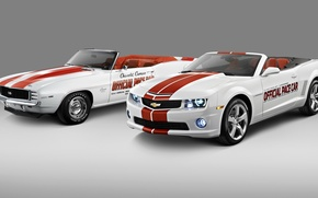 Picture photo, White, Chevrolet, Convertible, Two, Camaro, 2011, Cars