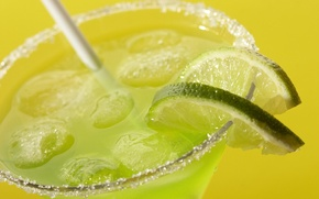 Wallpaper Drink, Lime, Ice