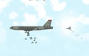 Wallpaper the plane, caricature, bomber, Wulffmorgenthaler, humor