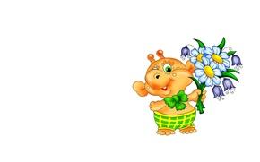 Picture flowers, background, mood, bouquet, art, alien, alien, children's