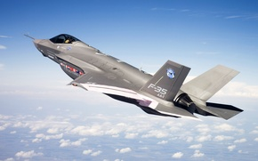 Picture clouds, flight, height, fighter f-35