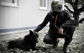 Picture dog, mask, soldiers, helmet, special forces, OSN Saturn