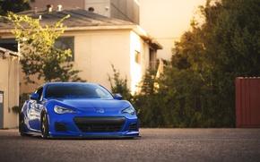 Picture coupe, Subaru, sports car, blue, front, Subaru, brz, quick