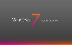 Wallpaper windows, energize, your, world, seven