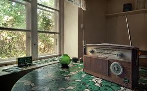 Picture radio, window, receiver