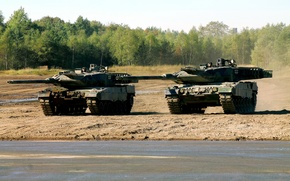 Picture polygon, exercises, Leopard 2A6, The German armed forces, German battle tanks
