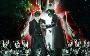 Picture look, space, stars, fiction, robots, chess, actor, male, cyborgs, Doctor Who, Doctor Who, Matt Smith, …