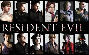 Picture Games, Wallpaper, Chris, Billy, Rebeca, Hunk, Claire, Jake, Wesker, Barry, Jill, Resident Evil, Leon, Ada