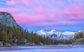 Wallpaper mountains, river, Canada, national Park