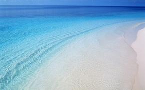 Wallpaper sea, wave, water, shore, beach, beach