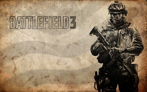 Picture soldiers, battlefield 3, m16a2, paper Wallpaper