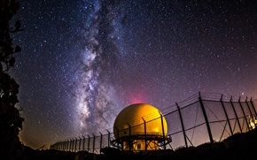 Picture space, stars, night, the milky way, Observatory
