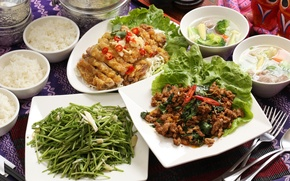 Picture soup, meat, figure, vegetables, salad, meals, cuts, Taiwanese cuisine