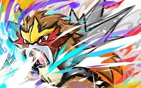 Picture Fire, Games, Anime, Pokemon, Entei